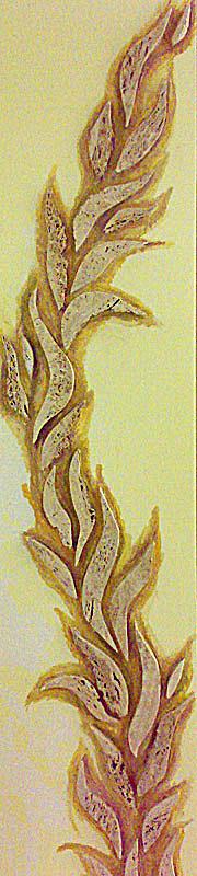 Grybelis ant lubų sienų